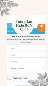 Halo BCA Chat