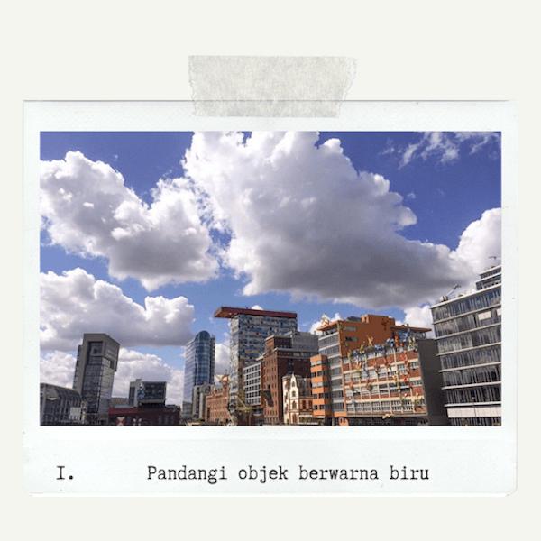 mengurangi stress dengan pandangi-langit-biru