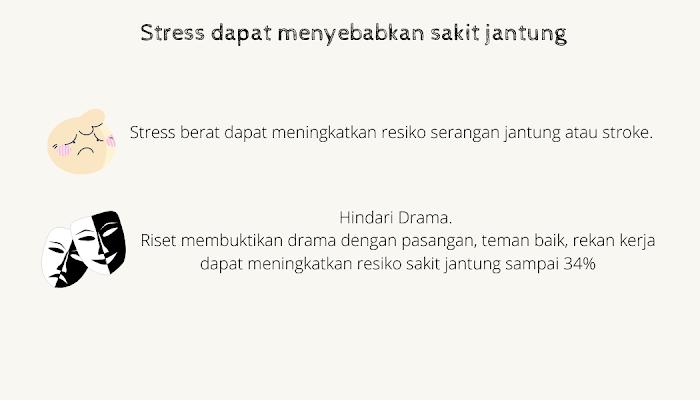 stress penyebab sakit jantung