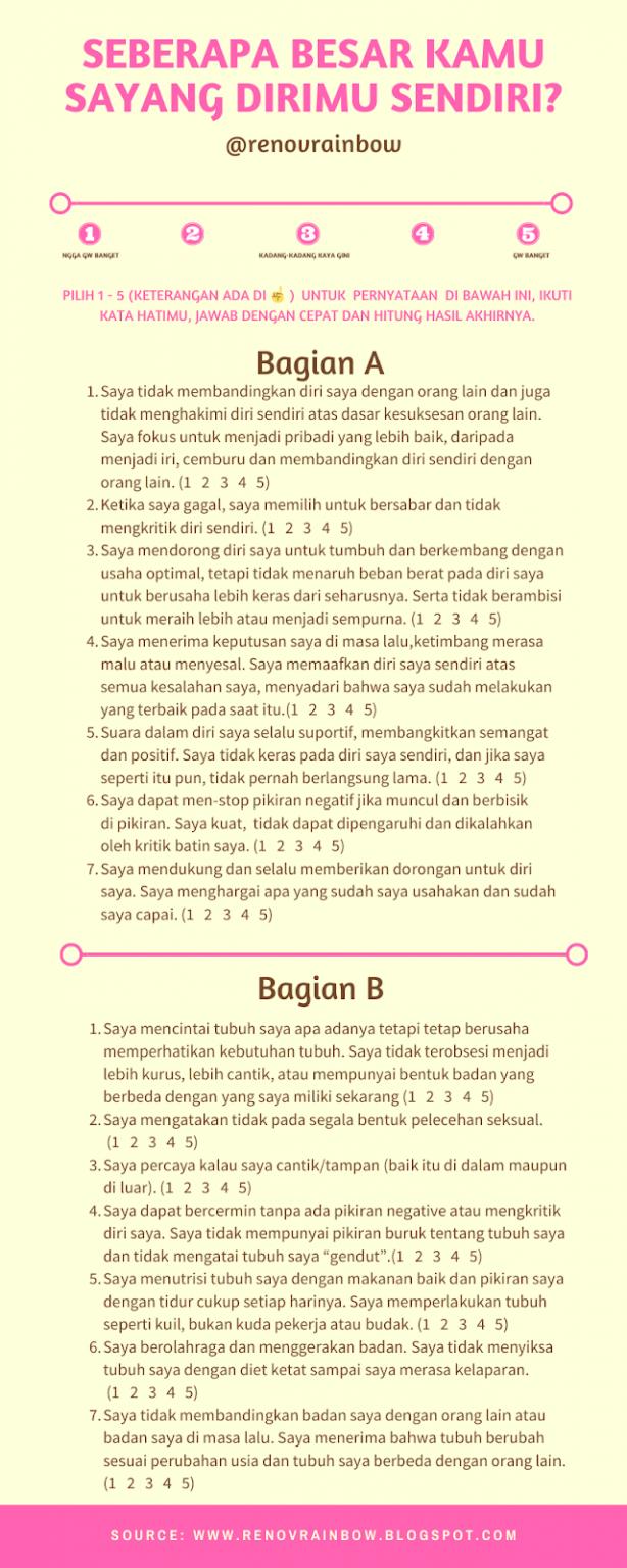 quiz menyayangi diri sendiri bagian A & B