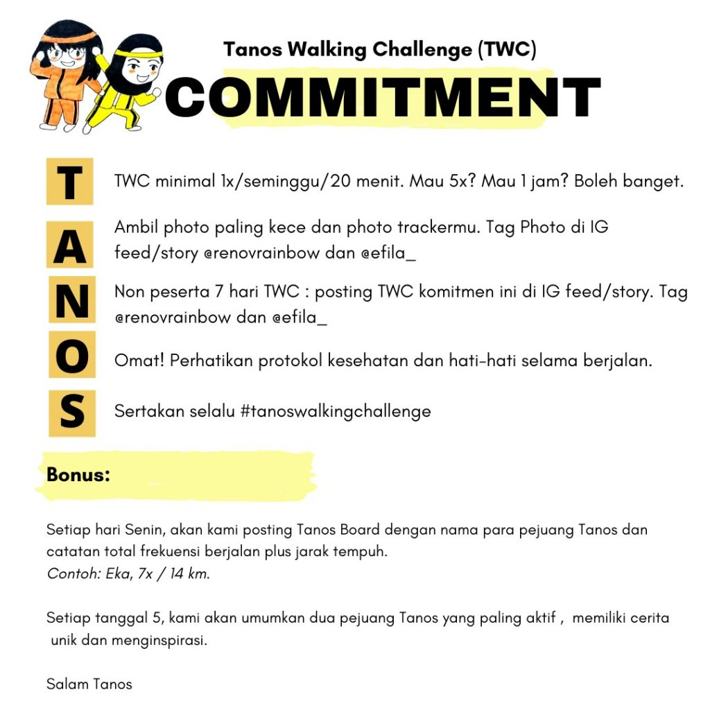 Tanos Walking Challenge Commitment