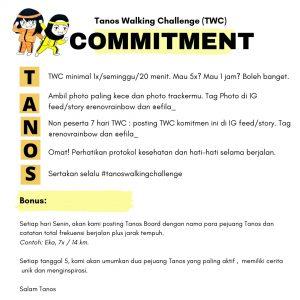 Tanos Walking Challenge Commitment