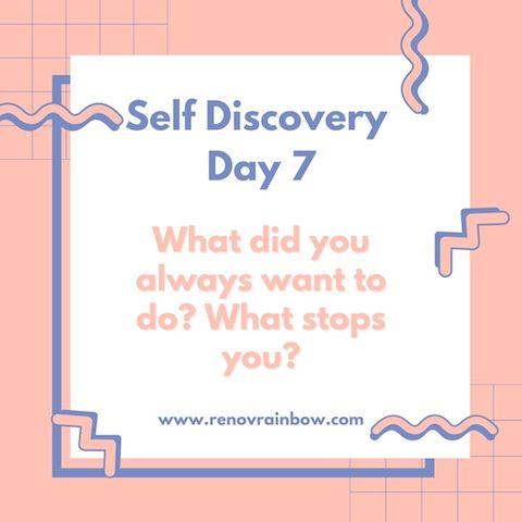 Menggapai Mimpi Self Discovery day 7