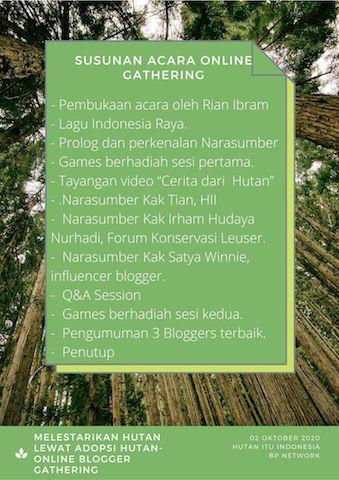 Susunan Acara Online Blogger Gathering