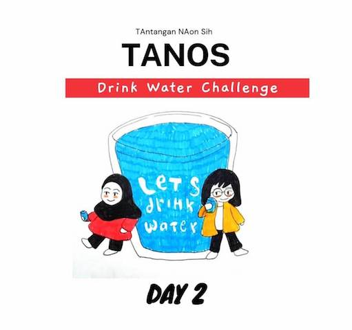 Tanos drink water challenge journal day 2