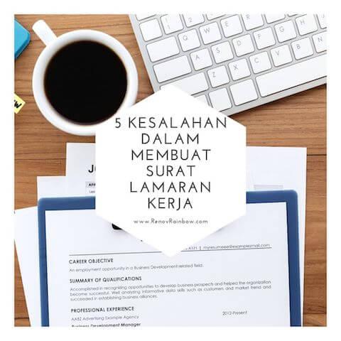 5 Kesalahan Dalam Membuat Surat Lamaran Kerja