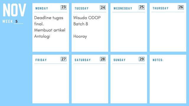 Program Komunitas ODOP 8 Minggu Ke-12