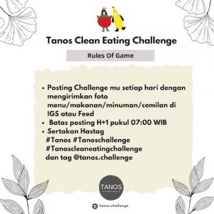 Tanos Clean Eating Challenge Rules of the Game