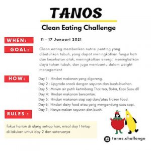 Tanos clean eating challenge informasi