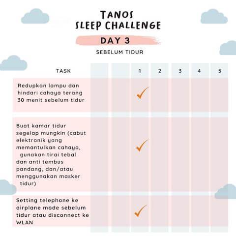 D3 kebiasaan baik sebelum tidur 3
