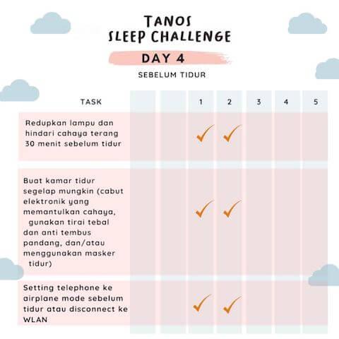d4 kebiasaan baik sebelum tidur 3