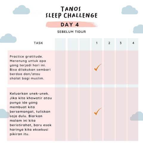d4 kebiasaan baik sebelum tidur 4