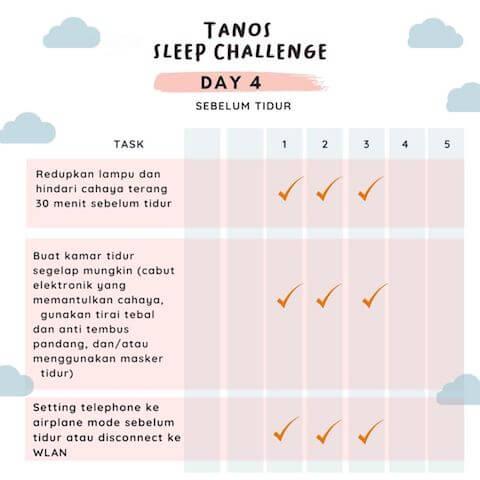 d5 kebiasaan baik sebelum tidur 3