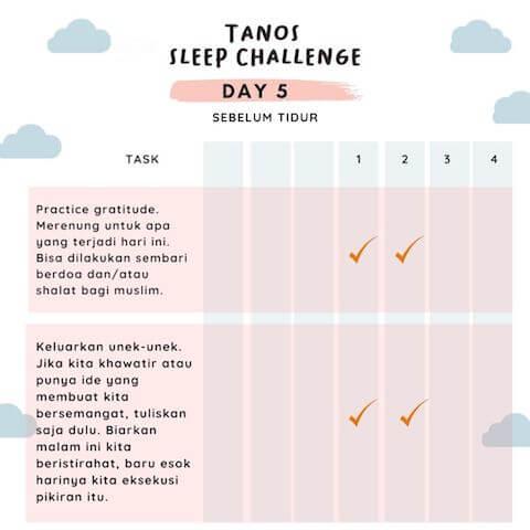 d5 kebiasaan baik sebelum tidur 4