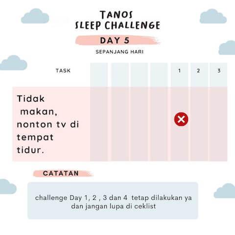 d5 kebiasaan baik sebelum tidur 5