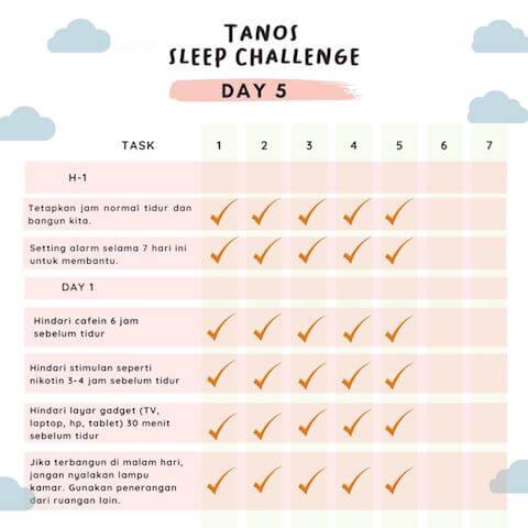 d5 kebiasaan baik sebelum tidur