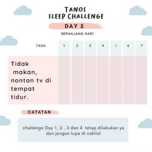 kebiasaan baik sebelum tidur D5