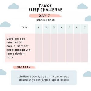 kebiasaan tidur TSC D7