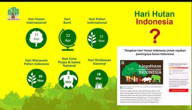 bagian dari kampanye hutan
