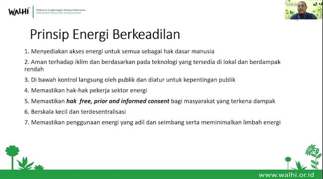 prinsip energi berkeadilan