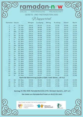 Ramadan Kalender 2020
