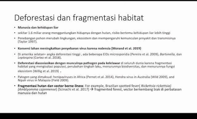 deforestasi dan fragmentasi habitat