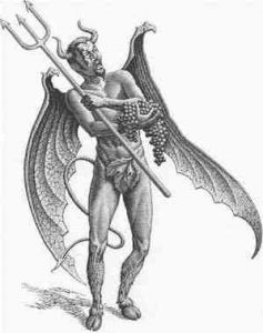 devil with cloven hooves